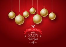 Christmas bauble background. Christmas and New Year background Stock Photos