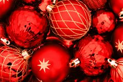 Christmas bauble background Stock Photography