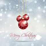 Christmas bauble background Stock Photo