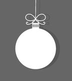 Christmas bauble background. Vector illustration Royalty Free Stock Photos