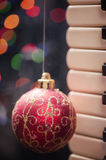 Christmas Bauble. Christmas ball on abstract light background royalty free stock image