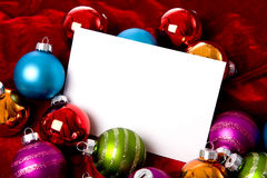Christmas Bauble or ball Background Stock Photo