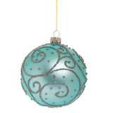 Christmas bauble on white. Christmas bauble - ball isolated on white background stock images