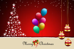 Christmas bauble and balloons Royalty Free Stock Photography