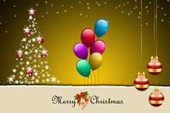 Christmas bauble and balloons Stock Photography
