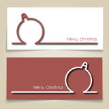 Christmas bauble banners Royalty Free Stock Images