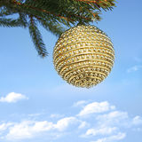 Christmas bauble on beautiful background. Christmas bauble on christmas tree Stock Photos