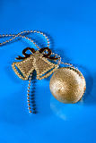 Christmas bauble and bell Royalty Free Stock Images