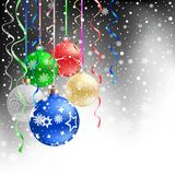 Christmas bauble black background Royalty Free Stock Photo