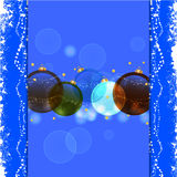 Christmas bauble blue background Royalty Free Stock Photo