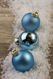 Christmas bauble blue Stock Images