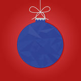 Christmas bauble. Blue christmas bauble. New Year background. Vector illustration Royalty Free Stock Photos