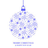 Christmas bauble of blue snowflakes Royalty Free Stock Photo