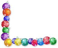 Christmas Bauble Border Stock Images