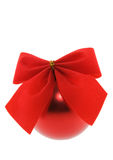 Christmas bauble with bow Royalty Free Stock Photography