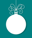 Christmas bauble with bow Royalty Free Stock Photos