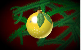 Christmas bauble on the branch Stock Photo