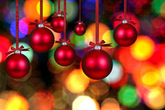 Christmas Bauble Bulbs Stock Photo
