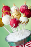 Christmas bauble cake pops Stock Image