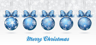 Christmas Bauble Card - Merry Christmas Royalty Free Stock Images