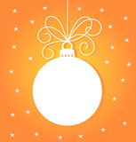 Christmas bauble card Royalty Free Stock Image