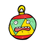 Christmas bauble cartoon character Royalty Free Stock Photo
