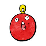 Christmas bauble cartoon character Royalty Free Stock Images