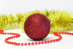 Christmas bauble. On the white background Royalty Free Stock Photo