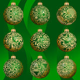 Christmas bauble collection Royalty Free Stock Images