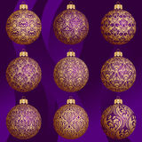 Christmas bauble collection Stock Images