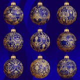 Christmas bauble collection Royalty Free Stock Image