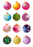 Christmas Bauble Collection. Collection of twelve Christmas Bauble Illustrations Royalty Free Stock Photography