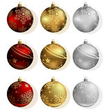 Christmas Bauble Collection Stock Photo