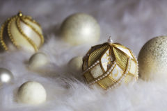 Christmas bauble composition Royalty Free Stock Photos
