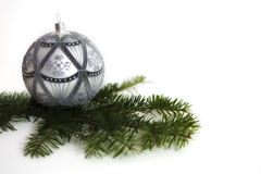 Christmas bauble composition Royalty Free Stock Images