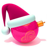 Christmas bauble. 3d illustration   over white background Stock Image