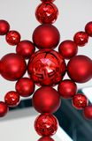 Christmas Bauble Decoration. Red Christmas Bauble Decoration Star Shaped Stock Photography