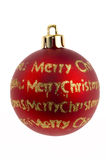 Christmas bauble decorations. Close up of Christmas bauble decoration Royalty Free Stock Photography