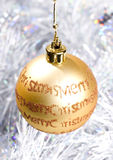 Christmas bauble decorations Stock Photography
