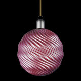 Christmas bauble elegant design. Luxury elegant xmas ornament isolated on black background Stock Photo