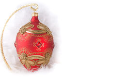 Christmas bauble Faberge egg Stock Image
