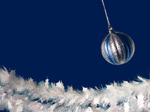 Christmas Bauble and Garland Royalty Free Stock Photos