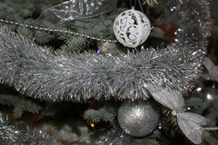 Christmas bauble and garlands Royalty Free Stock Image