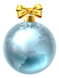 Christmas Bauble Globe World Earth Stock Photos