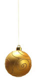 Christmas Bauble - Gold intric Stock Photos