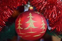 Christmas bauble 1. A bauble hanging on Christmas tree Stock Photography