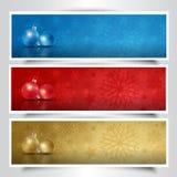 Christmas bauble headers Stock Image