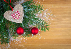 Christmas bauble with heart Stock Photography