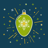 Christmas bauble icon in flat style Royalty Free Stock Photos