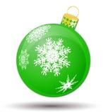 Christmas bauble icon, symbol, design. Winter illustration isolated on white background. Stock Images